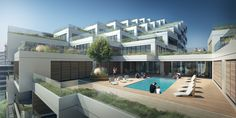 Copenhagen-based firm has recently broken ground on Aquabella, a LEED-certified building for Toronto's former industrial waterfront. Sustainable Architecture, Sustainable Design, Residential Building Design, Toronto Photography, Landscape Plans, Green Building, Urban Design, Mansions, House Styles
