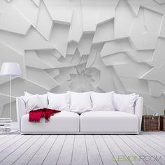 Ściana w stylu popękanego lodu. #Fototapeta #3D ➡ http://bit.ly/Crack-Wall #Fototapety #Murals #wallmurals #decortips
