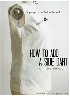 How to add a Side Dart for Proper Fit #sewing #howto #sewingrabbit