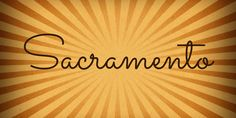 I love this font from the 1950s and 60s.  Sacramento Font · 1001 Fonts