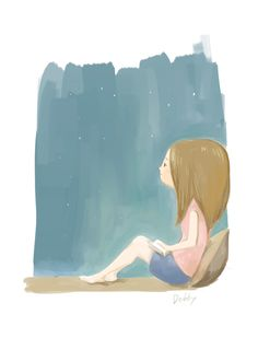 #night #thinking #illustration
