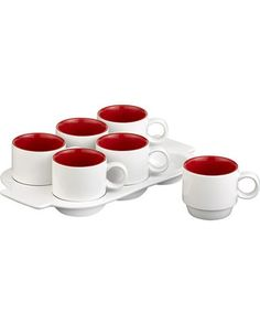 These coffee mugs come with a stoneware tray, making serving to a crowd easier than ever! Get them here: http://www.bhg.com/shop/crate-and-barrel-pick-me-up-mugs-with-tray-p501bd5f482a797dc894f2bdd.html?socsrc=bhgpin103112shopmugswithtray