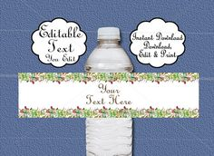 Free Water Bottle Label Template    Label Template  Templates