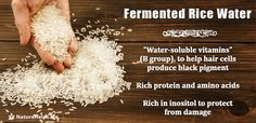 Fermented Rice water benefits for hair