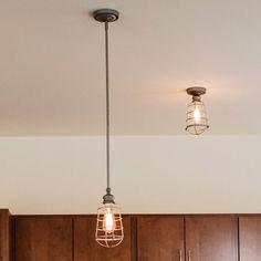 Design House 519686 Ajax 1-Light Ceiling Mount Industrial Light, Galvanized