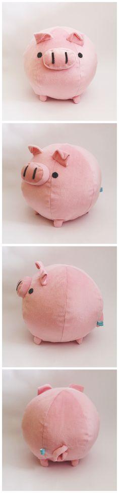 Super cute round pig.