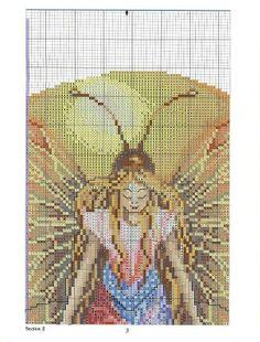 angeles, hadas, sirenas y brujas en punto de cruz   Aprender manualidades es facilisimo.com     2