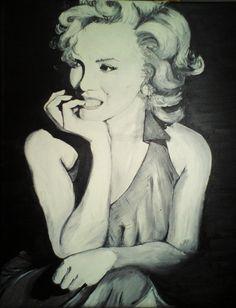 Marilyn Monroe by sandrutowiec on DeviantArt Marilyn Monroe, Deviantart, Painting, Painting Art, Paintings, Painted Canvas, Drawings, Marylin Monroe