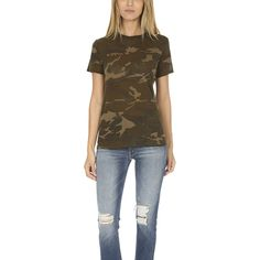 Majestic Filatures Crewneck Tee MAJESTIC FILATURES (€150) ❤ liked on Polyvore featuring tops, t-shirts, designers, home, majestic filatures, women's, brown t shirt, basic cotton t shirts, crew neck tee and crewneck tee