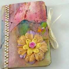 Smash book  Altered art journals notebook mixed media collage