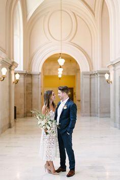 House of Ollichon loves...Ten City Hall Wedding Tips - Melanie Duerkopp Photography. #registryofficewedding #alternativeweddingdress #bridaljumpsuit #bridalwear #jumpsuit #twopiece #mismatched