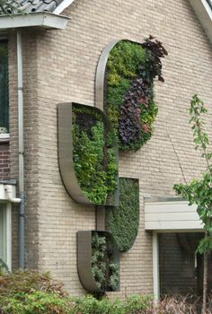 Originales Muros Verdes | www.digebis.com #Jardin Vertical en fachadas