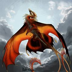 A dragon sits on a cliff in the mountains watch the sun set. Part of an upcoming dragon playing deck of cards. This dragon was from my dragons portfolio. Magical Creatures, Fantasy Creatures, Fantasy Dragon, Fantasy Art, Beautiful Dragon, Cool Dragons, Dragon Artwork, Dragon Pictures, Art Anime