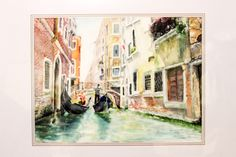 Venice Watercolor Painting Landscape painting Art WallDecor Art Home Decor FREE SHIPPING Art Print from Original Painting byTs.Elena [NO 11] by ElenTsArt on Etsy https://www.etsy.com/listing/230837677/venice-watercolor-painting-landscape