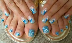 Hawaiian Blue Nail
