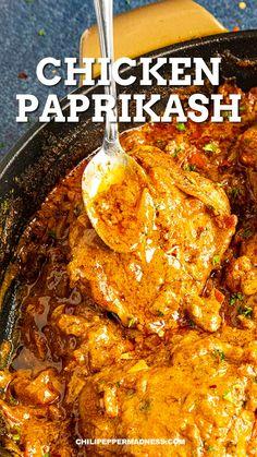 Hungarian Recipes, Italian Recipes, Spicy Chicken Recipes, Indian Chicken Recipes, Curry Recipes, Mexican Food Recipes, Dinner Recipes, Comida Diy, Cooking Recipes