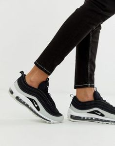 a77037ddc3745 Nike Air Max 97 Premium trainers in black cracked leather