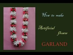 How to make an artificial garland - YouTube