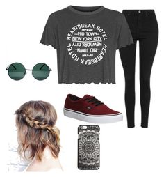 Chill day✌️ by citlalivargas on Polyvore featuring polyvore, fashion, style, Topshop, Vans, YHF and clothing