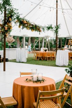 Our Café Lights draped throughout the tent creates an intimate aura that is felt by every guest. Tie in some florals and you will have a gorgeous, earthy vibe that will create an unforgettable experience. Check out our website for more of our lighting rentals! #SouthCarolina #Reception #Lights #RusticWedding #WeddingGreenery #OutdoorLighting Cafe Lighting, Outdoor Lighting, Whimsical Wedding, Rustic Wedding, Bistro Lights, Charleston South Carolina, Wedding Decorations, Table Decorations, Event Services
