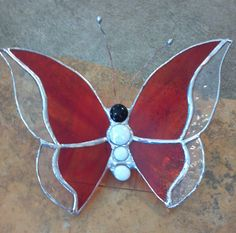 Stained Glass Butterfly custom made pieces by TimeOnThePorch