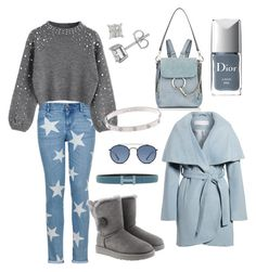 """""""Untitled #3"""" by stella-1002 on Polyvore featuring STELLA McCARTNEY, Tahari, Chloé, Hermès, UGG, Ray-Ban and Christian Dior"""