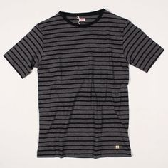 Armor Lux T-Shirt Leon Heritage Stripe Black/Grey : SUNSETSTAR