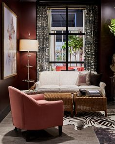 #RoweFurniture Phoebe Chair & Channing Sofa. Design by Alice Lane Home.