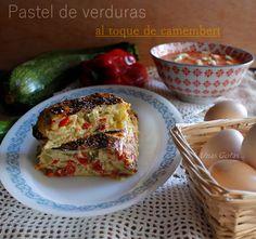 Unas Gotas de Imaginación: Pastel de verduras y gazpacho light