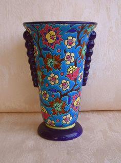 Vase Enamels from Longwy, 1930-1940.