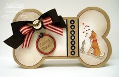 Dog bone card - bjl