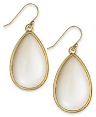 kate spade new york Gold-Tone Imitation Pearl Teardrop Earrings