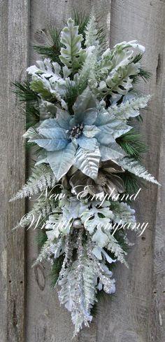 Christmas Wreath Christmas Swag Holiday Wreath by NewEnglandWreath