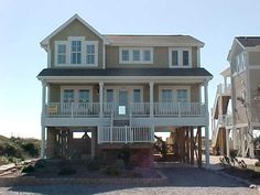 Holden Beach, NC - Olde Carolina 249 a 5 Bedroom Oceanfront Rental House in Holden Beach, part of the Brunswick Beaches of North Carolina. Includes Elevator, Private Pool