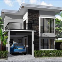 Philippines House Design Images 3 Home Design Ideas Two Story House Design, 2 Storey House Design, Duplex House Design, Two Storey House, Simple House Design, House Front Design, Minimalist House Design, Modern House Design, Modern Zen House