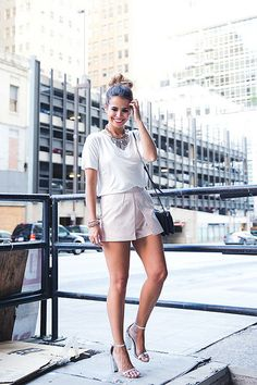 Dallas May 2014: Shorts_Metallic-Silver_Sandals-Outfit-Street_Style-24 by collagevintageblog, via Flickr
