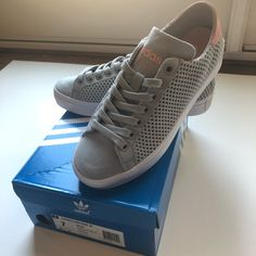 premium selection 0ef9c 35147 adidas Shoes   Nwt Adidas Court Vantage Womens Greypink   Color  Gray Pink    Size  7