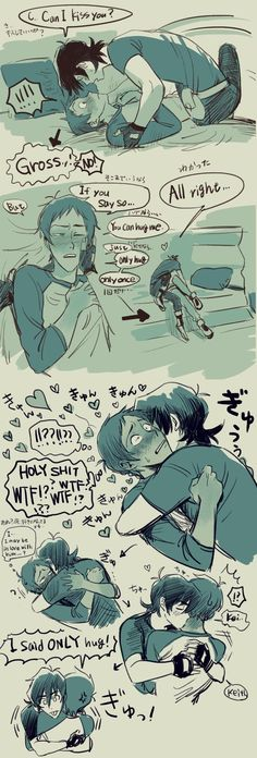 Keith and Lance. x333 <3<3<3 lol what's with keith's blep face at the end? is there more to this??