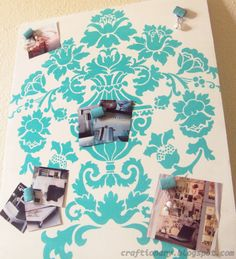 Stencil magnetic photo display board #organize #home