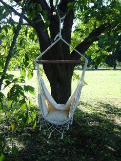 チェアハンモック ブラジル産|ハンモックライフ Hammock Chair, Outdoor Furniture, Outdoor Decor, Diy Home Decor, Garden Ideas, Baby Shower, Display, Sweet, House