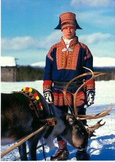 Lapland Sami man - Someone who does not forget their roots.