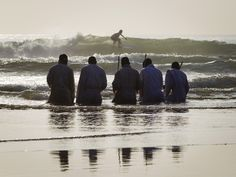 Fine Art Print-Members of the Shembe Church pray while kneeling in water on the Durban beach Fine Art Print on Paper made in the UK Durban South Africa, Fine Art Prints, Canvas Prints, Surfer, Image Of The Day, Pictures Of The Week, Kirchen, Photo Archive, Photographic Prints