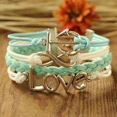 Anchor bracelet - love infinity bracelet for girls, Girlfriend and BFF, Christmas gift on Etsy, $9.99