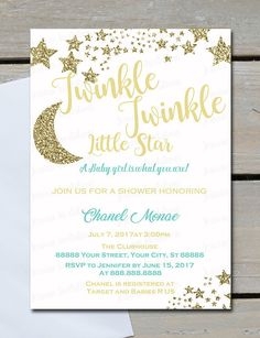 twinkle twinkle little star baby shower color