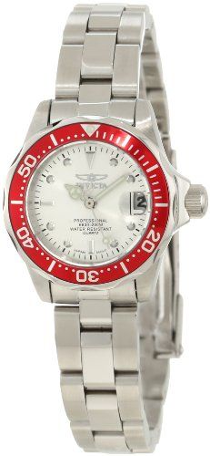 Invicta Womens 12521 Pro Diver Silver Dial Stainless Steel Watch * See this great product.