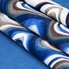 Tecido Watercolour Wave Samur