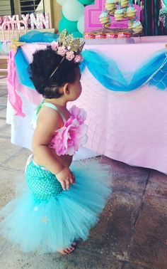 Mermaid Tutu, Mermaid, Little Mermaid, Mermaid Costume, Ocean Theme, Beach…