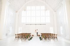 tropical Barn wedding ceremony