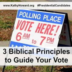 Christians let's vote responsibly! Here are 3 biblical principles to guide our vote and 14 characteristics of a good candidate!