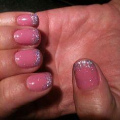 Glitter tips Polish, Glitter, Crafty, My Style, Nails, Finger Nails, Vitreous Enamel, Ongles, Nail